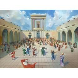 Steve Karro - Dancing in the Temple | Jewish Art Oil Painting Gallery