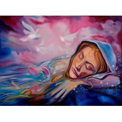 Steve Karro - Dreaming of Peace | Jewish Art Oil Painting Gallery