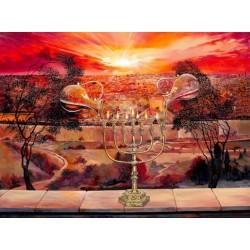 Steve Karro - Endless Blessing | Jewish Art Oil Painting Gallery