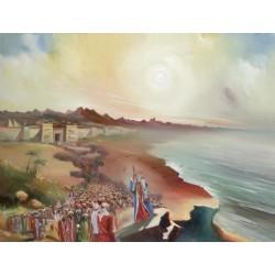 Steve Karro - Exodus | Jewish Art Oil Painting Gallery