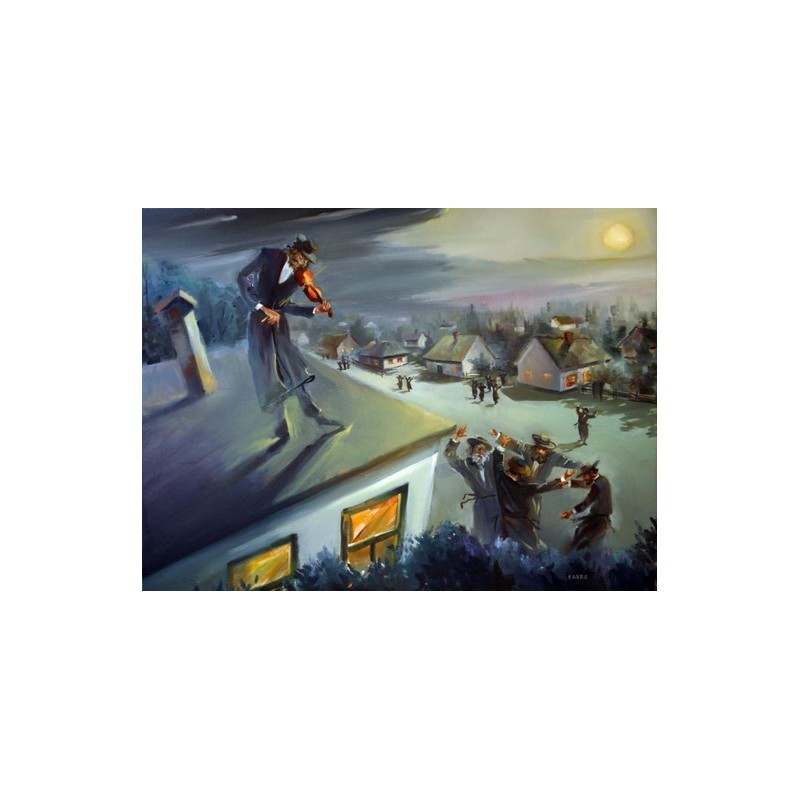 Fiddler On The Roof Oil Painting Jewish Art Oil Painting
