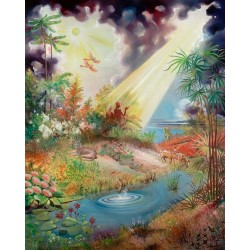 Steve Karro - Gan Eden | Jewish Art Oil Painting Gallery