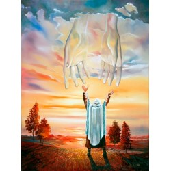 Steve Karro - Hands up | Jewish Art Oil Painting Gallery