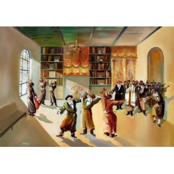 Steve Karro - Hasidic Dance II | Jewish Art Oil Painting Gallery