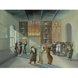Steve Karro - Hasidic Dance | Jewish Art Oil Painting Gallery