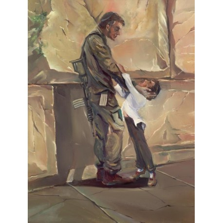Steve Karro - Israeli Soldier | Jewish Art Oil Painting Gallery