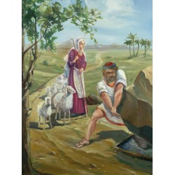 Steve Karro - Jacob & Rachel | Jewish Art Oil Painting Gallery