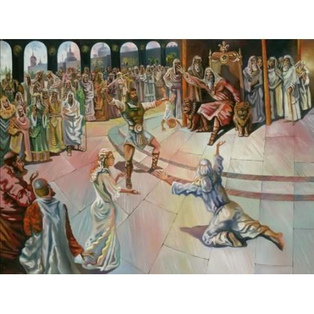 Steve Karro - King Solomon | Jewish Art Oil Painting Gallery