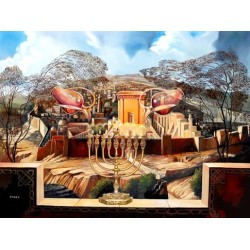 Steve Karro - Miracle of Hanukah | Jewish Art Oil Painting Gallery
