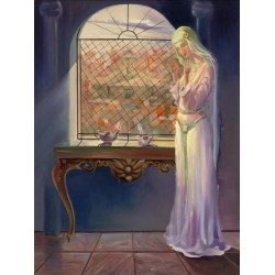 Steve Karro - Mother Sarah | Jewish Art Oil Painting Gallery