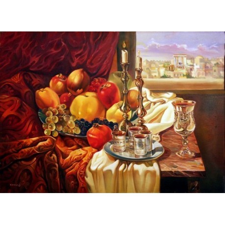 Steve Karro - Next year in Jerusalem | Jewish Art Oil Painting Gallery