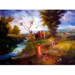 Steve Karro - Noachs Ark II | Jewish Art Oil Painting Gallery