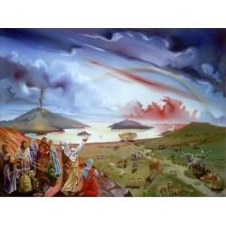 Steve Karro - Noachs Ark | Jewish Art Oil Painting Gallery