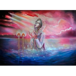 Steve Karro - One With the Light | Jewish Art Oil Painting Gallery