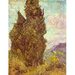 Two Cypress by Vincent Van Gogh - Art gallery oil painting reproductions