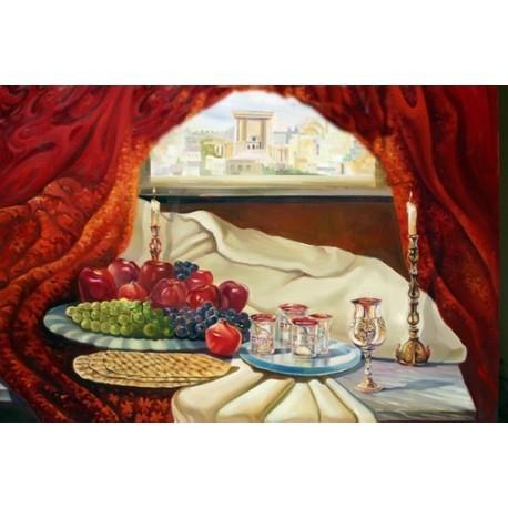 Steve Karro - Passover II | Jewish Art Oil Painting Gallery