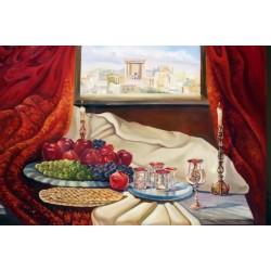 Steve Karro - Passover | Jewish Art Oil Painting Gallery