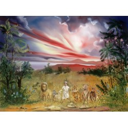 Steve Karro - Peace on Earth | Jewish Art Oil Painting Gallery