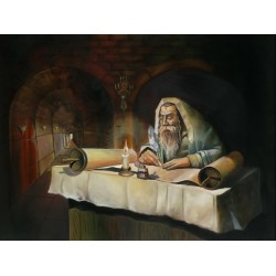 Steve Karro - Rabbi Shimon | Jewish Art Oil Painting Gallery