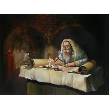 Steve Karro - Rabbi Shimon | Jewish Art Oil Painting Gallery