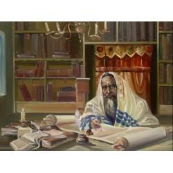 Steve Karro - Scribe | Jewish Art Oil Painting Gallery