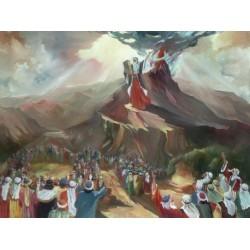 Steve Karro - Ten Commandments   Jewish Art Oil Painting Gallery