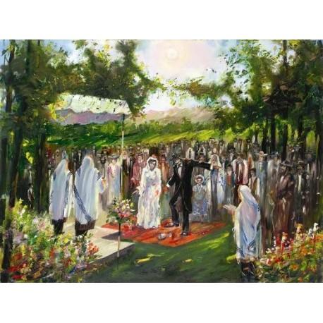 Steve Karro - The Chupah | Jewish Art Oil Painting Gallery