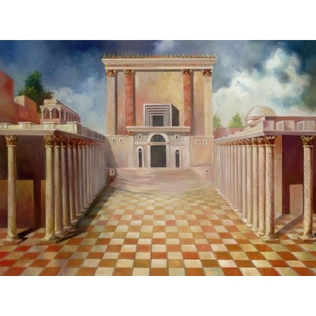 Steve Karro - The Holy Temple | Jewish Art Oil Painting Gallery