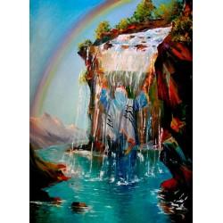 Steve Karro - Thirst for Torah | Jewish Art Oil Painting Gallery