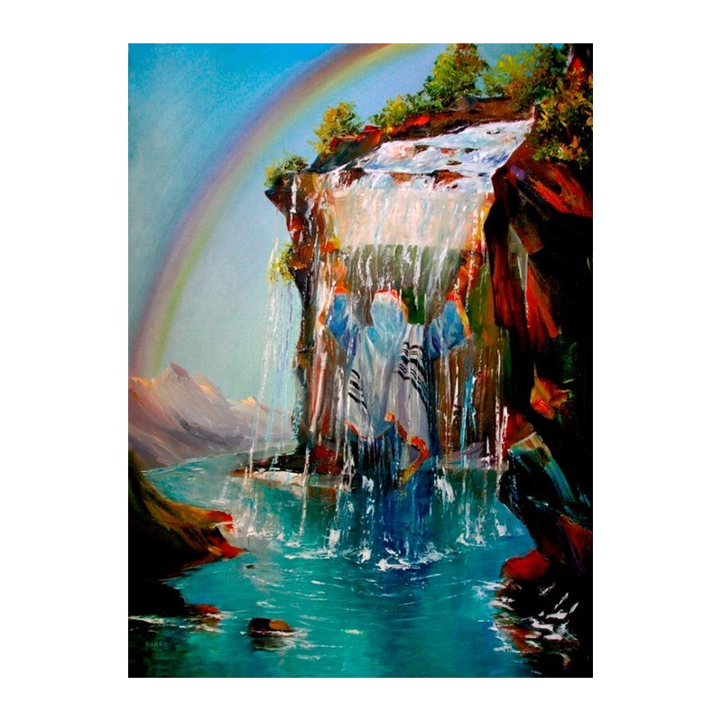 thirst for torah oil painting