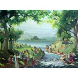 Steve Karro - Traditional Tashlich | Jewish Art Oil Painting Gallery