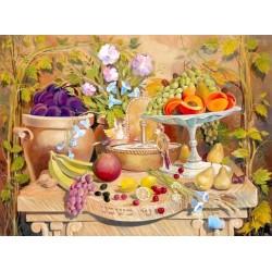 Steve Karro - Tu Bishvat | Jewish Art Oil Painting Gallery
