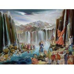Steve Karro - Water in Desert | Jewish Art Oil Painting Gallery