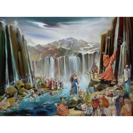 Steve Karro - Water in Desert | Jewish Art Oil Painting Gallery
