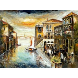 Steve Karro - Wedding in Venice | Jewish Art Oil Painting Gallery