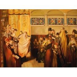 Steve Karro - Yom Kippur | Jewish Art Oil Painting Gallery