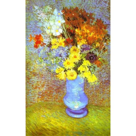 Vase with Daisies and Anemones by Vincent Van Gogh - Art gallery oil painting reproductions