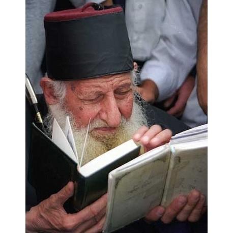 Rav Kaduri Praying   Jewish Art Oil Painting Gallery