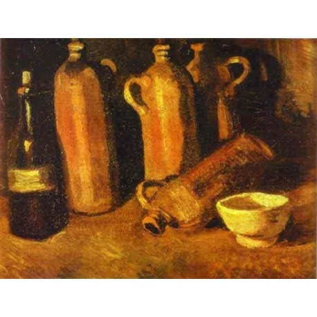 Still Life with Four Jugs by Vincent Van Gogh - Art gallery oil painting reproductions