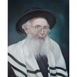 Rabbi Finkel | Jewish Art Oil Painting Gallery