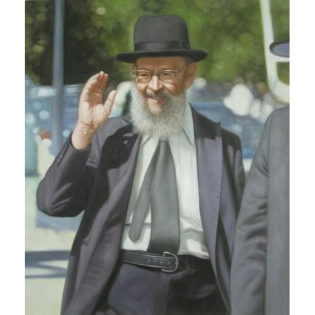 Rabbi Miller 2 | Jewish Art Oil Painting Gallery