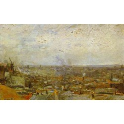 View of Paris from Mountmartre by Vincent Van Gogh - Art gallery oil painting reproductions