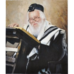 Rav Shach 3 | Jewish Art Oil Painting Gallery