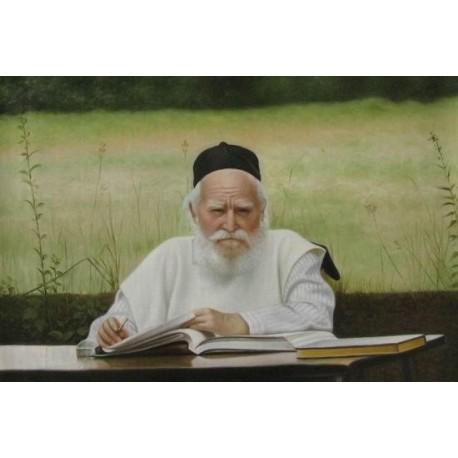 Reb Moshe Feinstein | Jewish Art Oil Painting Gallery