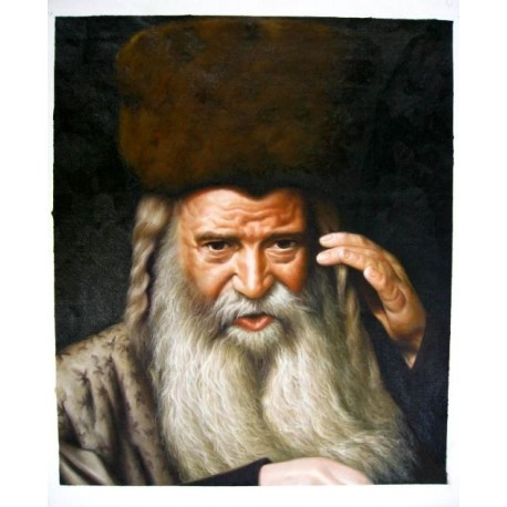 Skolyer Rebbe   Jewish Art Oil Painting Gallery