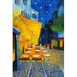 Cafe Terrace At Night, 1888 by Vincent Van Gogh - Art gallery oil painting reproductions