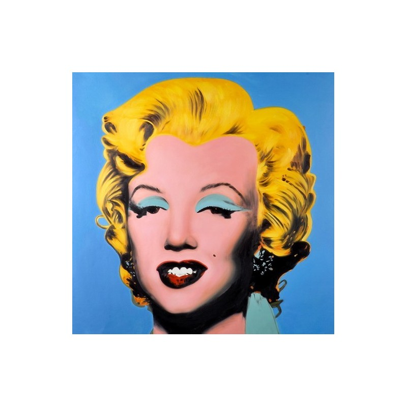 A blue marlyn monroe by andy warhol oil painting for Andy warhol famous works