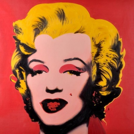Marilyne monroe hot pink by andy warhol oil painting for Andy warhol famous paintings