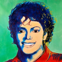 Michael jackson Green by Andy Warhol oil painting art gallery