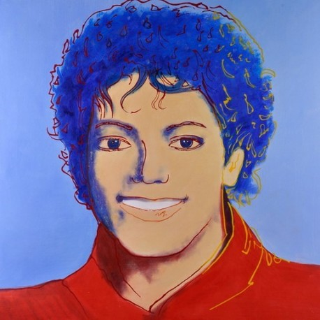 Michael jackson Blue by Andy Warhol oil painting art gallery